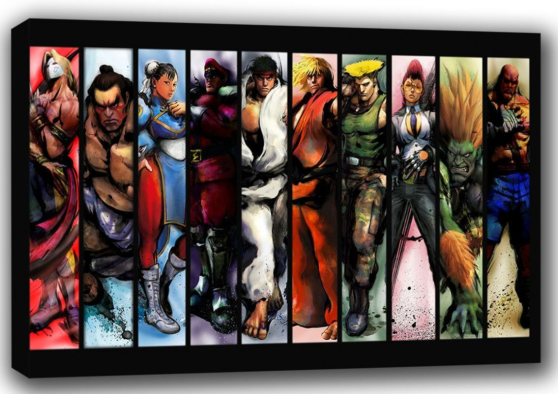 Streetfighter Gaming Art Canvas. Sizes: A4/A3/A2/A1 (001275)
